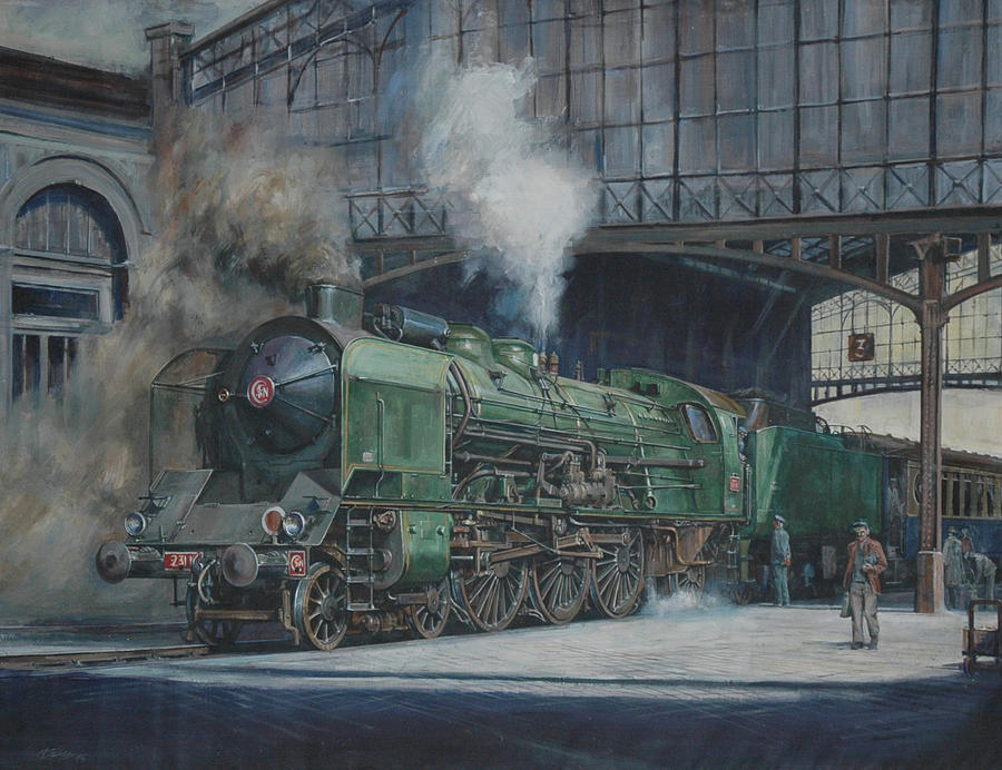 Steam Painting - French Pacific. by Mike Jeffries