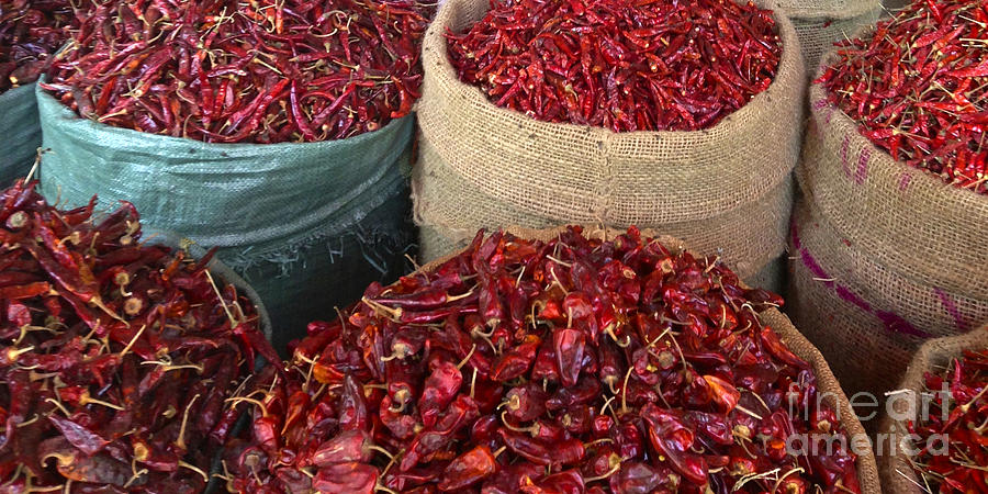 Fresh Dried Chilli on Display for Sale Zay Cho Street Market 27th Street Mandalay Burma by PIXELS  XPOSED Ralph A Ledergerber Photography