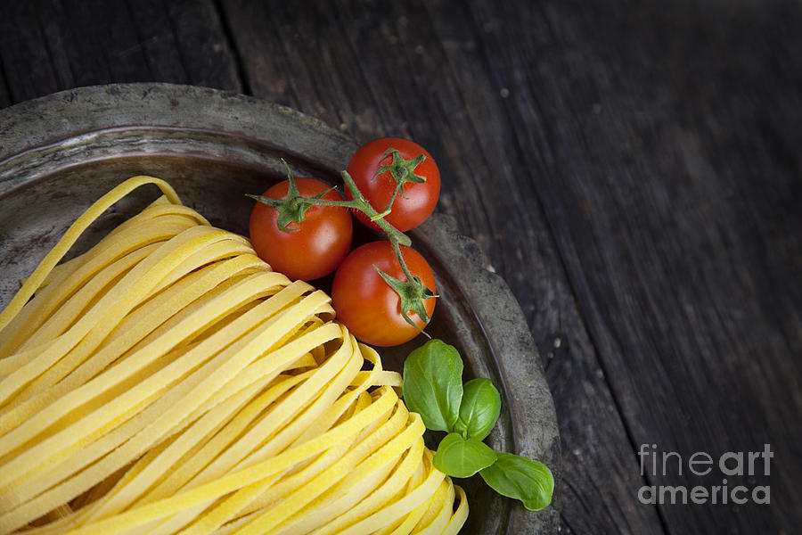 Bake Photograph - Fresh Pasta by Mythja  Photography