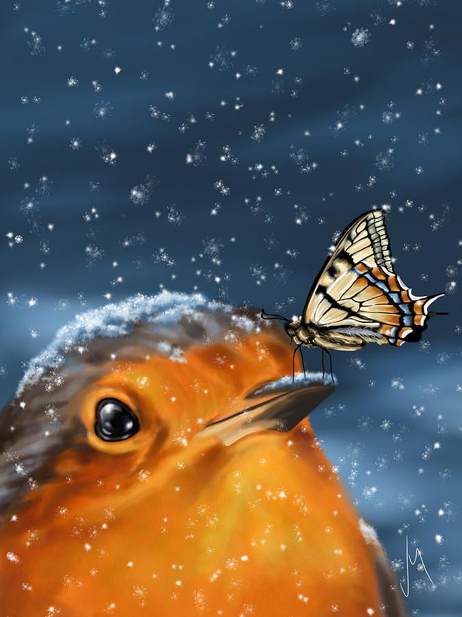 Christmas Digital Art - Friends by Veronica Minozzi