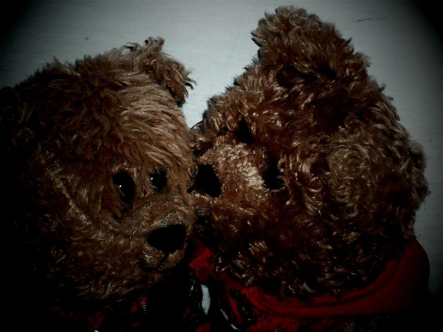 Teddy Bear Photograph - Friendship Is A Small Unexpeted Kiss At The End Of The Day  by Donatella Muggianu