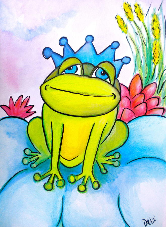 Frog Prince Painting - Frog Prince by Debi Starr