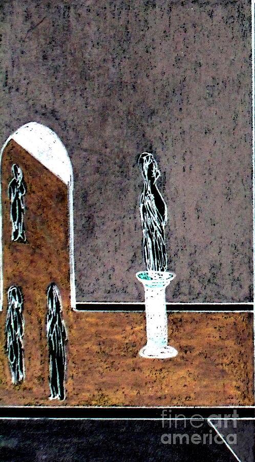 Museum Pastel - From The Mezzanine by Bill OConnor