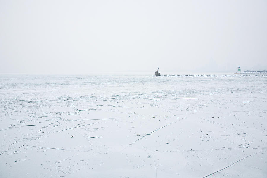 Chicago Photograph - Frozen by Joanna Madloch