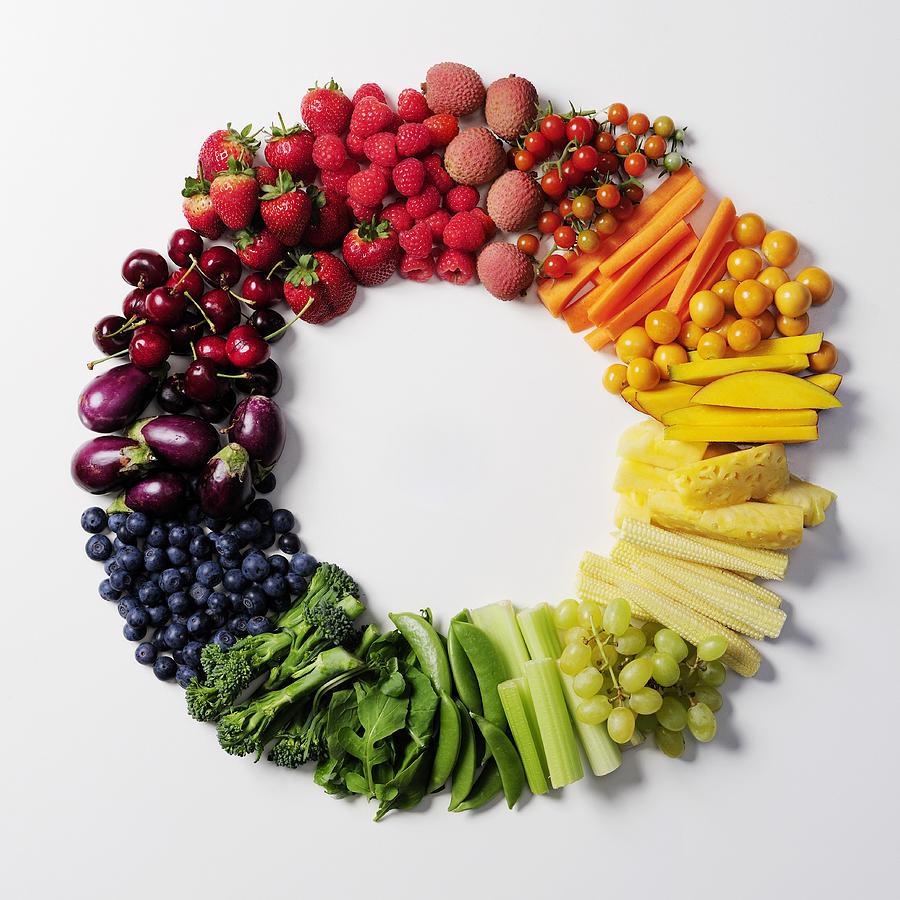 Fruit & vegetable color wheel. Photograph by David Malan
