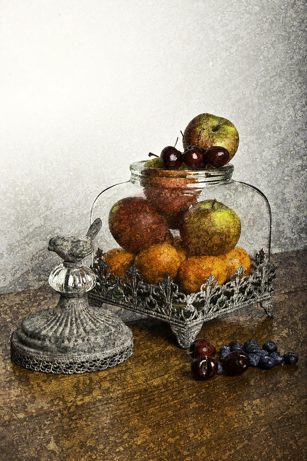 Fruit Photograph - Fruit Still Life by Lesley Rigg