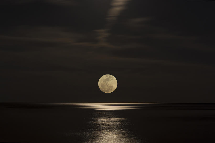 Alabama Photograph - Moon Rising Over The Gulf by Gej Jones