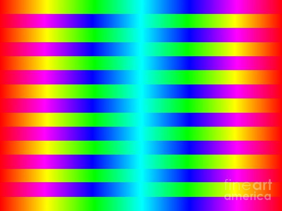 Funky Color Background Digital Art
