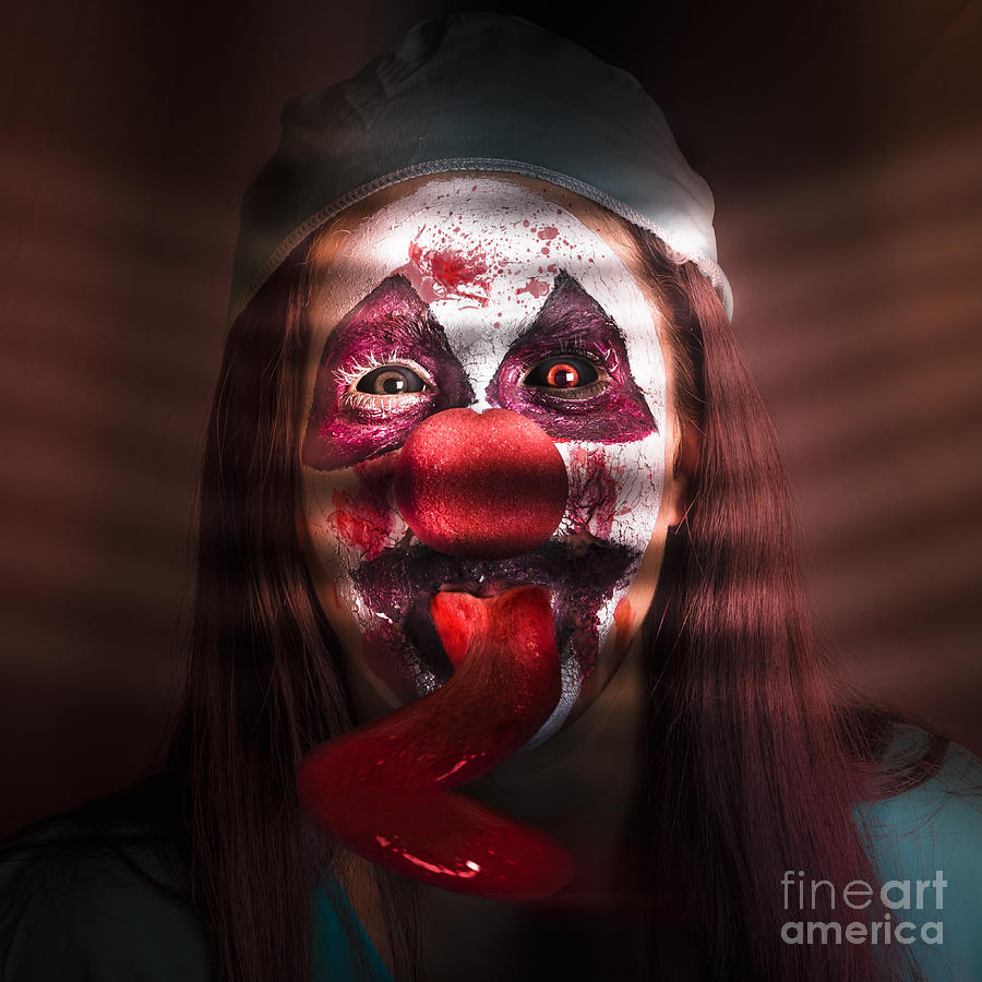 Clown Photograph - Funny Medical Clown In The Hospital Closet by Jorgo Photography - Wall Art Gallery