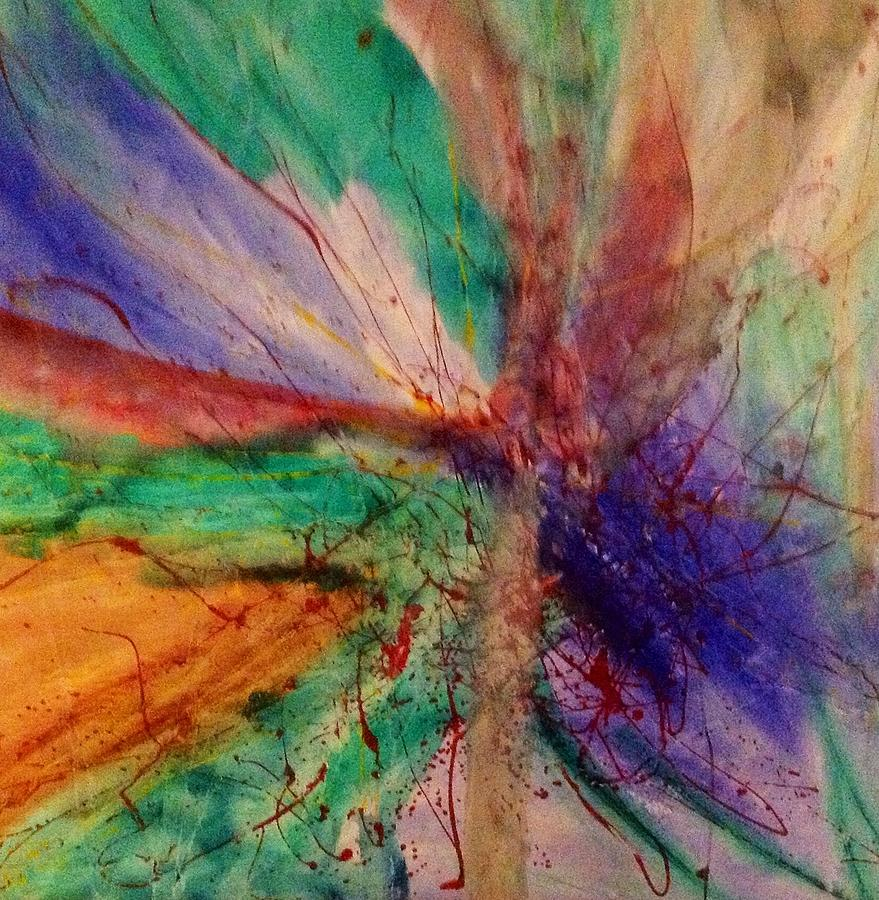 Abstract Painting - Fusion by Russell Simmons