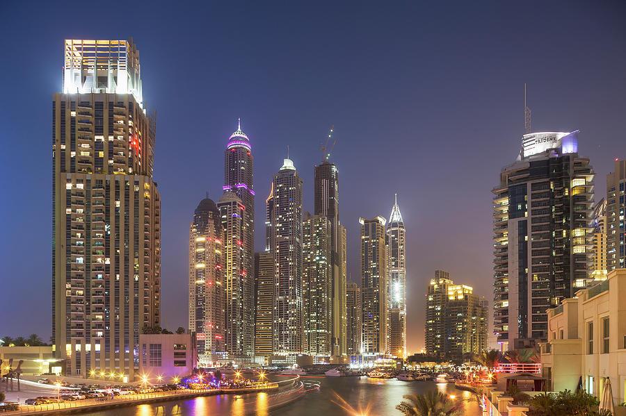 Futuristic Skyscrapers In Dubai Marina Photograph by Buena Vista Images