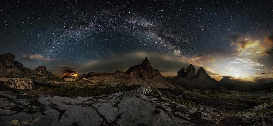 Galaxy Dolomites Photograph by Ivan Pedretti