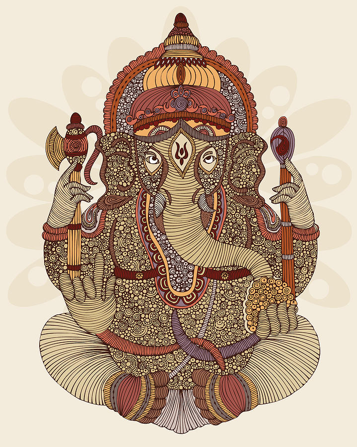Illustration Photograph - Ganesha by Valentina Ramos