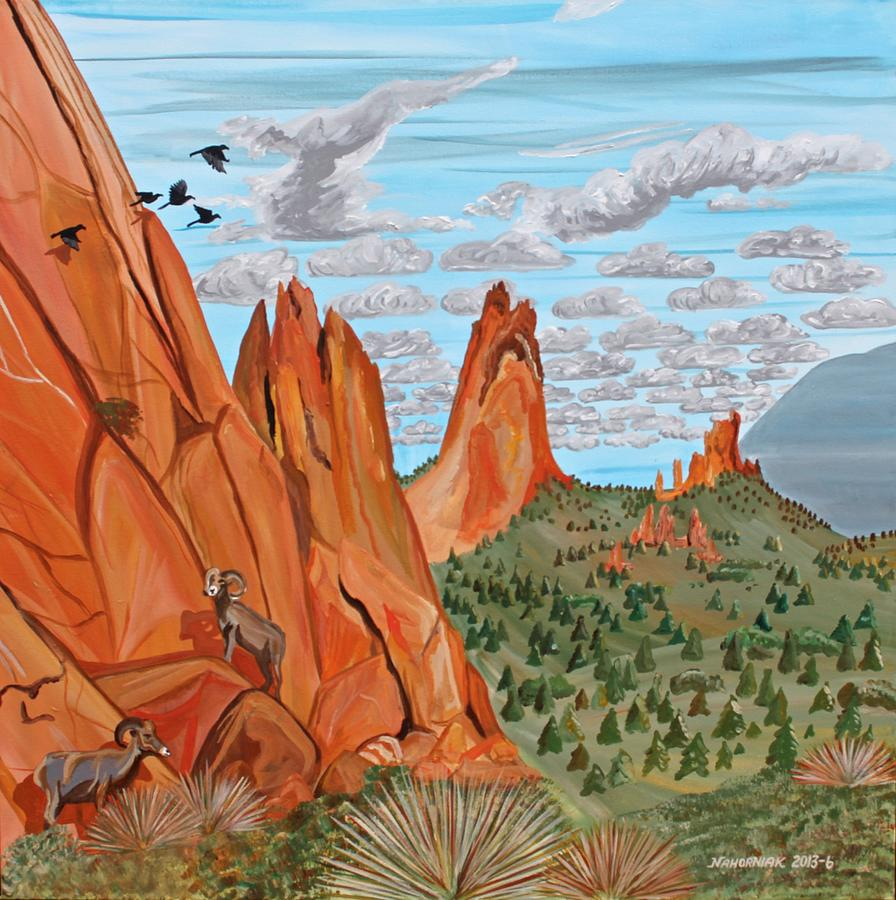 Landscape Painting - Garden Of The Gods by Mike Nahorniak