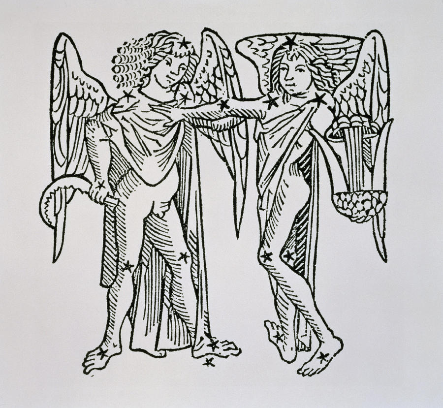 Gemini Drawing - Gemini An Illustration by Italian School