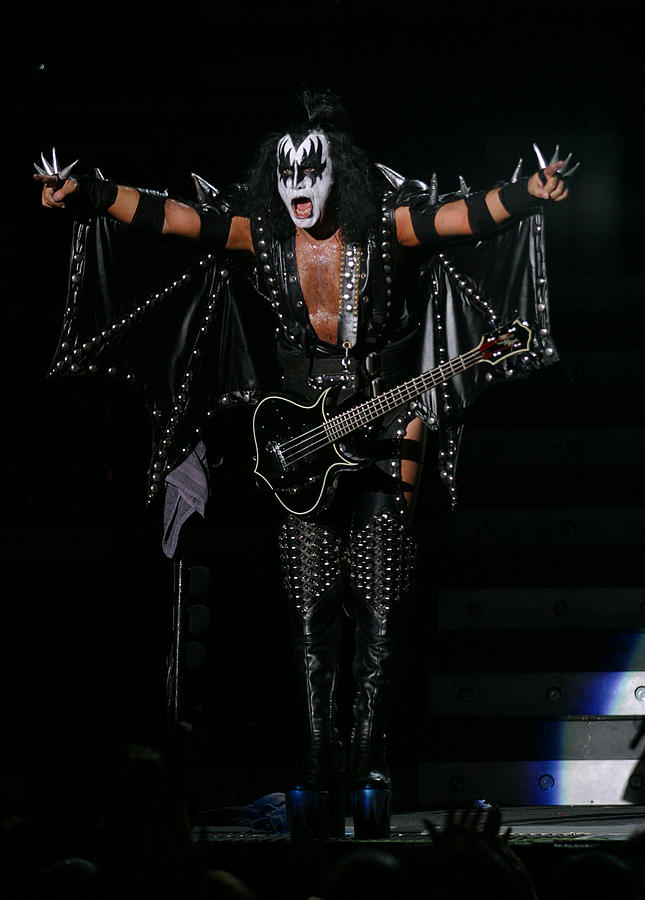 Kiss Photograph - Gene Simmons - Kiss by Don Olea