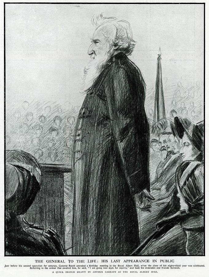 William Drawing - General William Booth  Founder by Mary Evans Picture Library