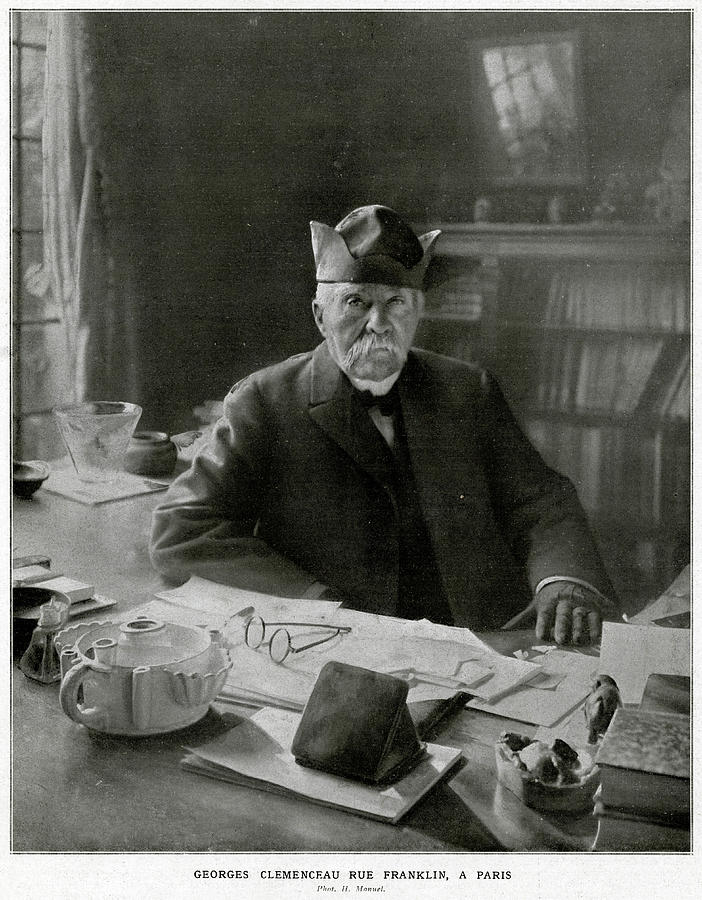 Clemenceau Photograph - Georges Clemenceau  French Statesman by Mary Evans Picture Library