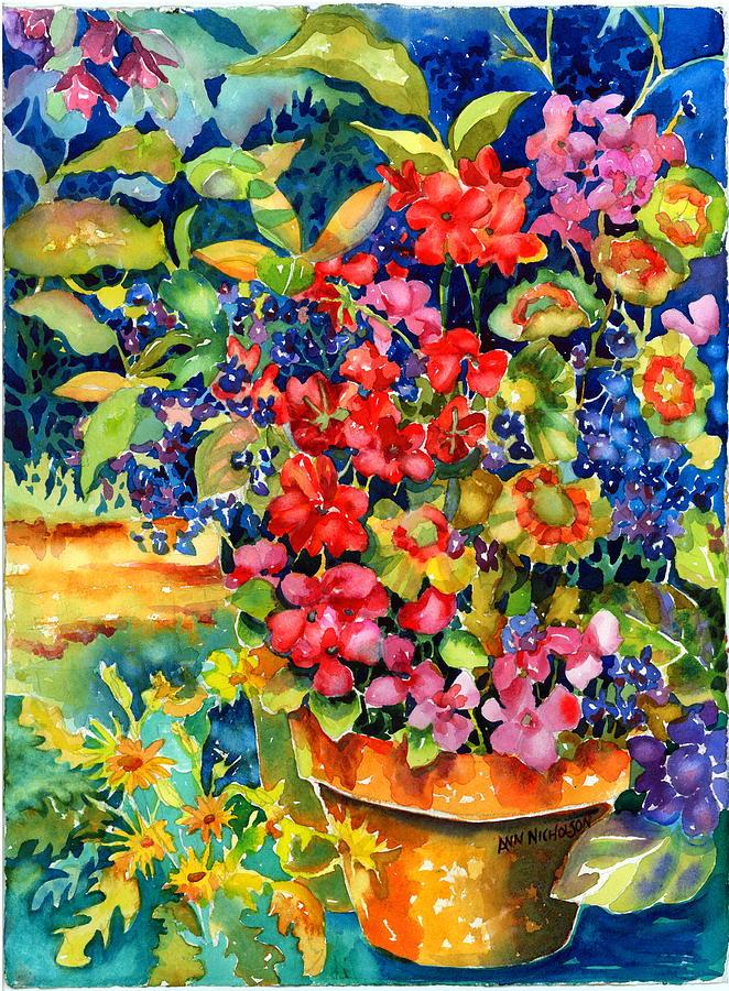 Geraniums Painting - Geranium II by Ann  Nicholson