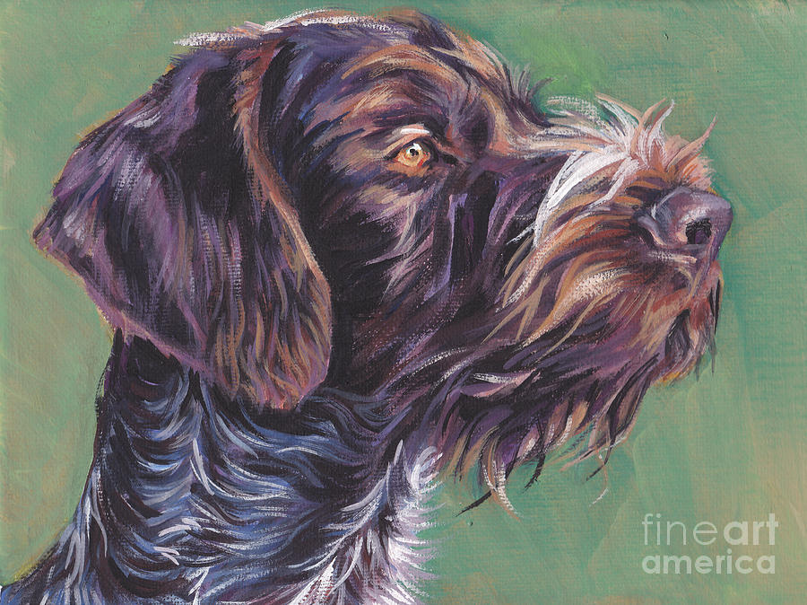 German Wirehaired Pointer Painting - German Wirehaired Pointer by Lee Ann Shepard