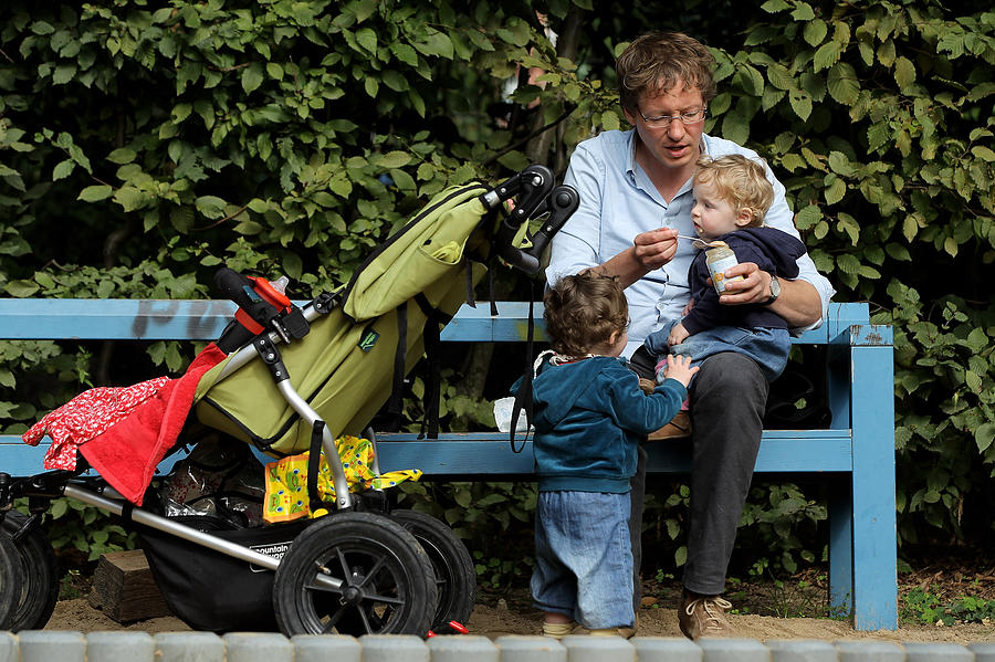 Germany Debates Expanding Parental Leave Photograph by Sean Gallup