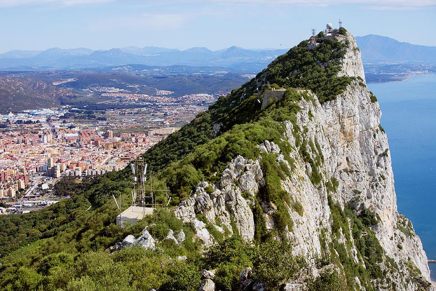 Above Photograph - Gibraltar Rock by Artur Bogacki