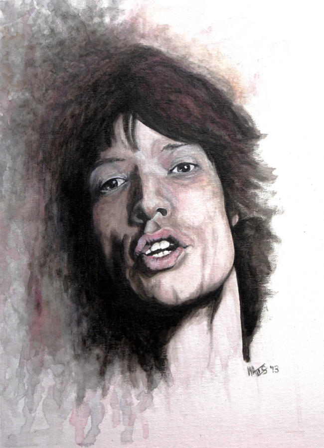Mick Jagger Painting - Gimme Shelter by William Walts