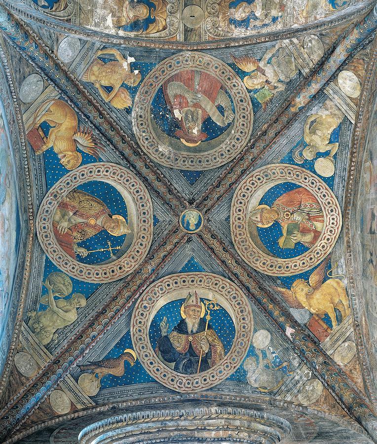 Circle Photograph - Giovan Pietro Da Cemmo, St Ambrose, St by Everett