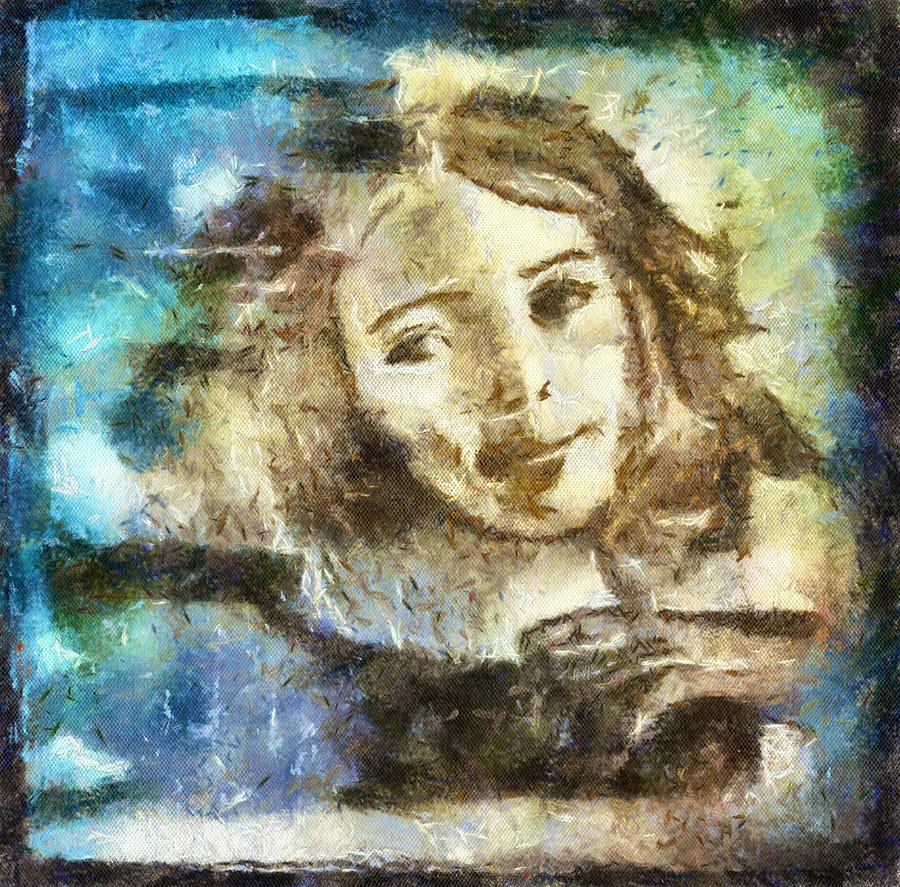Girl In Blue Drawing by Jennifer Woodworth