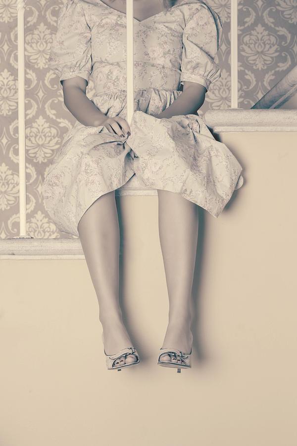 Woman Photograph - Girl On Steps by Joana Kruse