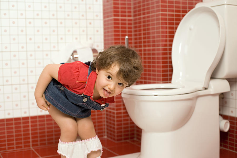 Girl Using Toilet 1 Photograph by Thinkstock Images