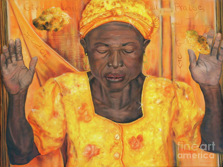 Figurative Painting - Give You All The Glory by Jeanette Sthamann