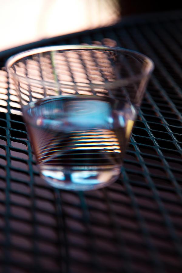 Glass Photograph - Glass Half Full by David Patterson