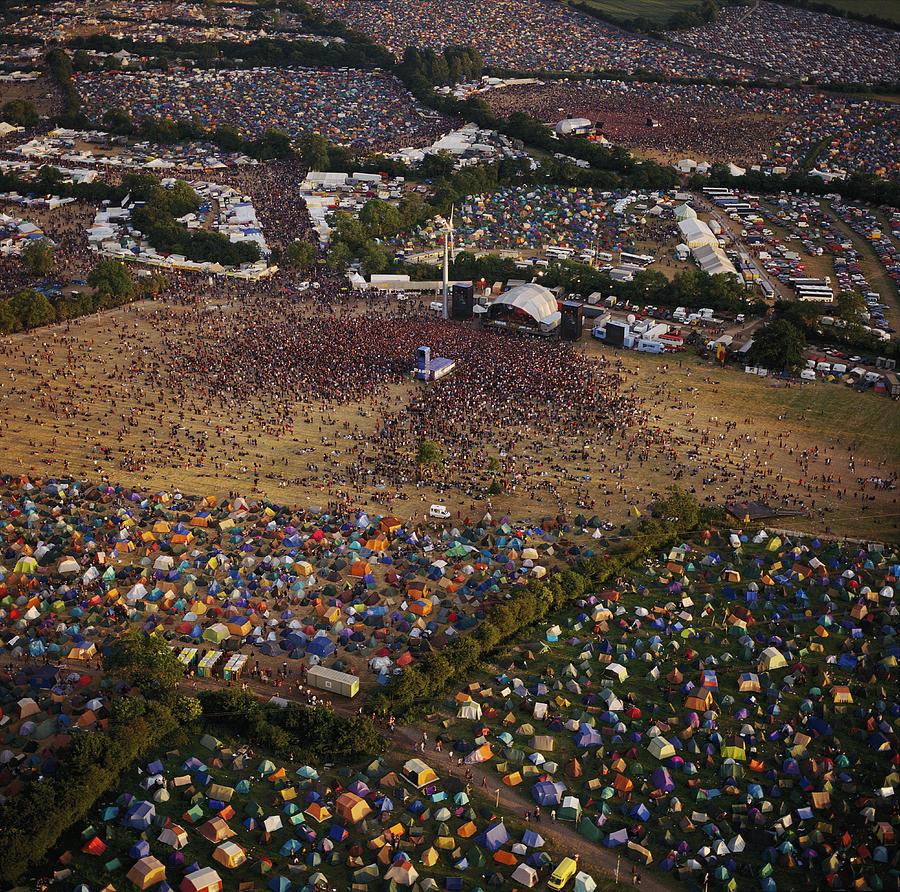 Glastonbury Festival Photograph - Glastonbury Festival by Skyscan/science Photo Library