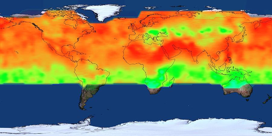 Earth Photograph - Global Co2 Concentrations by Nasas Scientific Visualization Studio