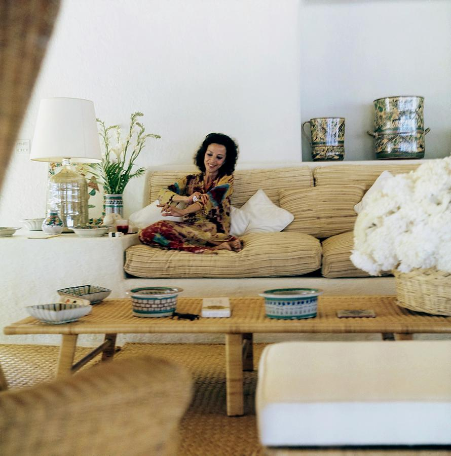 Gloria Guinness At Home Photograph by Horst P. Horst