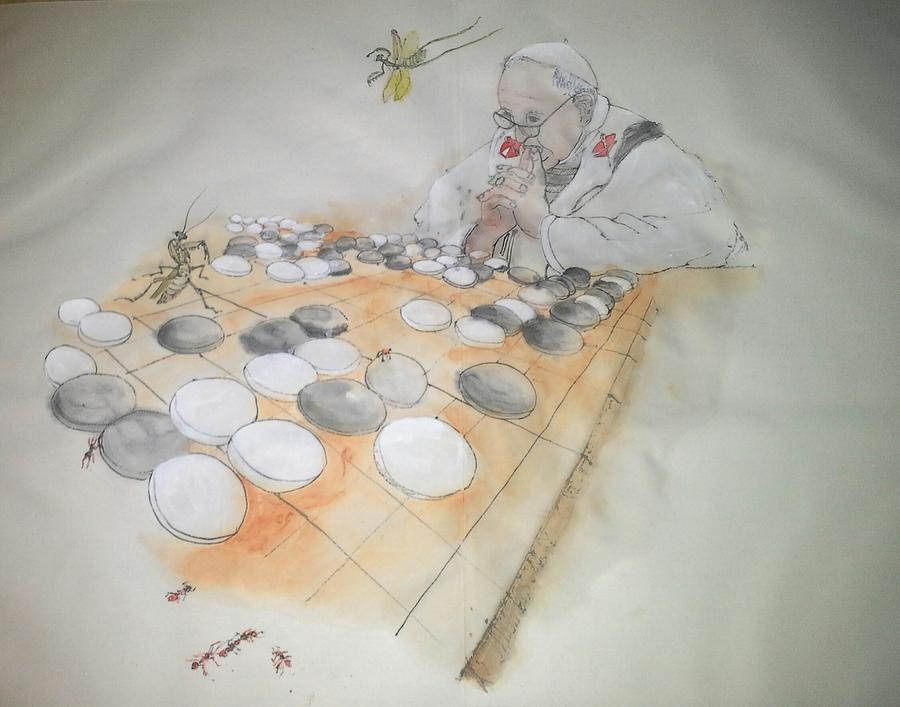 Go Album Painting by Debbi Saccomanno Chan