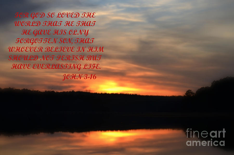 Sunset Photograph - God Only Son by Donna Brown