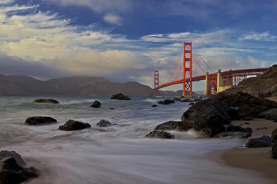 Bridge Photograph - Golden Gate Bridge by Evgeny Vasenev