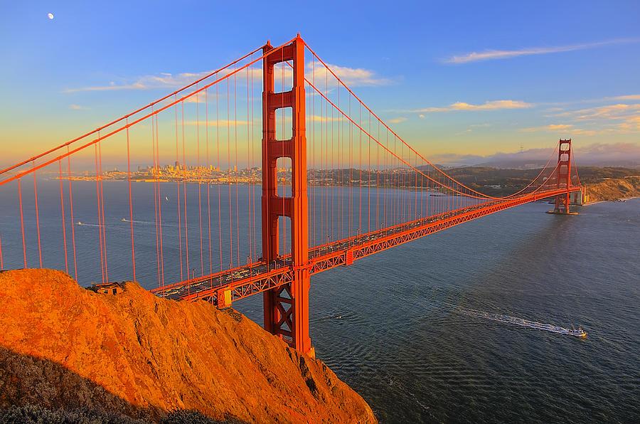 Golden Gate Bridge Sunset Photograph By Norman Blume