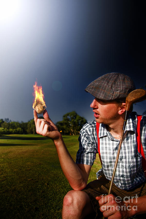 People Photograph - Golf Ball Flames by Jorgo Photography - Wall Art Gallery