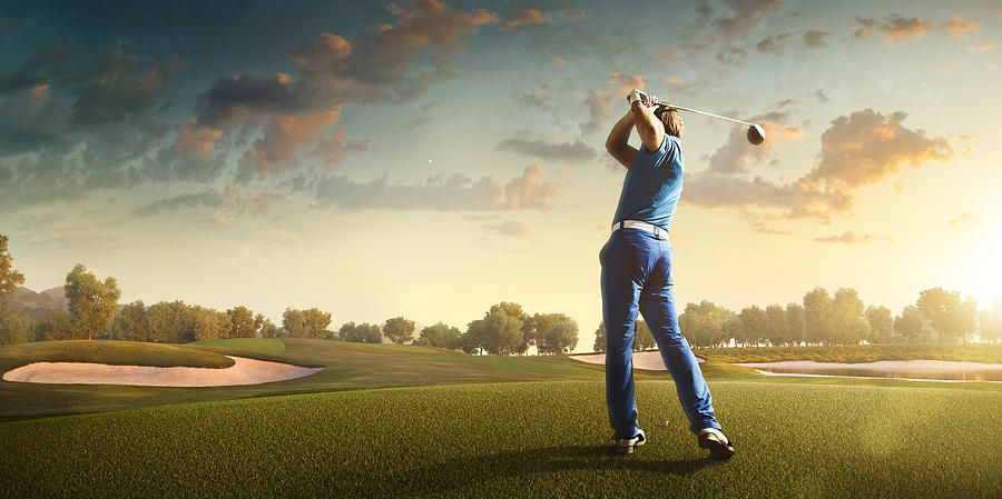 Golf: Man playing golf in a golf course Photograph by Dmytro Aksonov