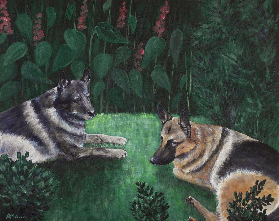 Old Painting - Good Friends by Anastasiya Malakhova