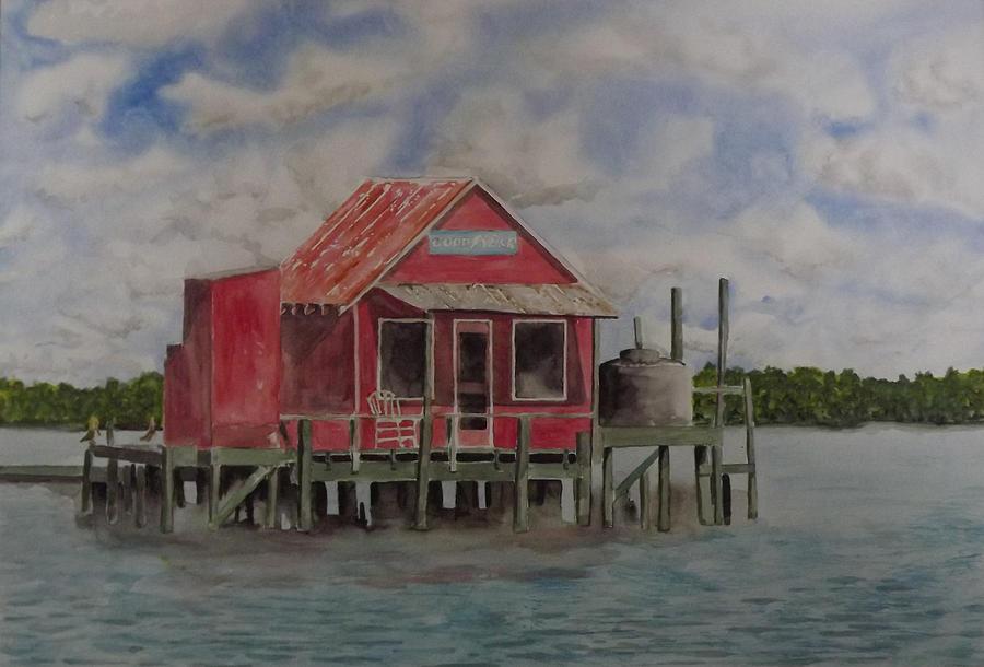 Florida Painting - Goodyear Fish House #2 by Gary Thomas