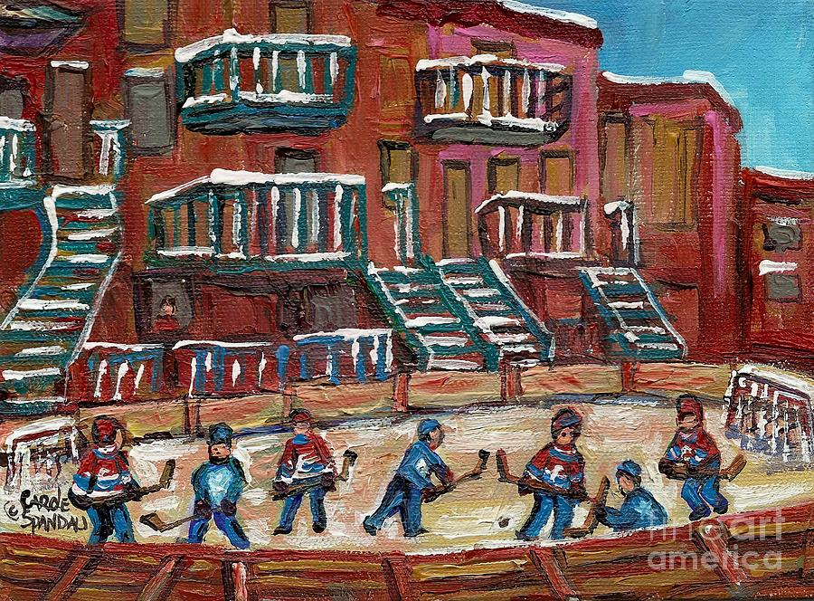 Hockey Painting - Gorgeous Day For A Game by Carole Spandau