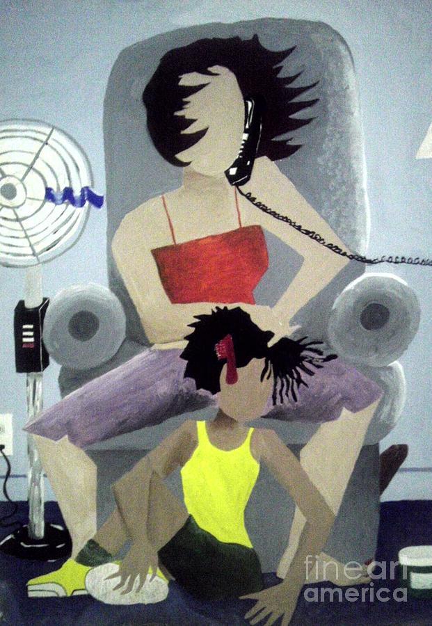 Nonobjective Painting - Gossip by Cepada Cloud