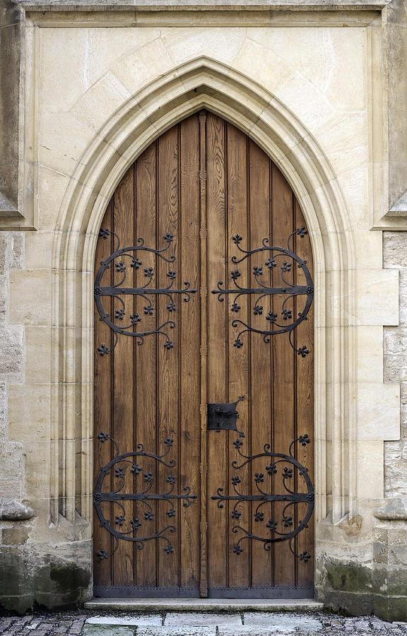 Castle Photograph - Gothic Door. by Fernando Barozza & Gothic Door. Photograph by Fernando Barozza
