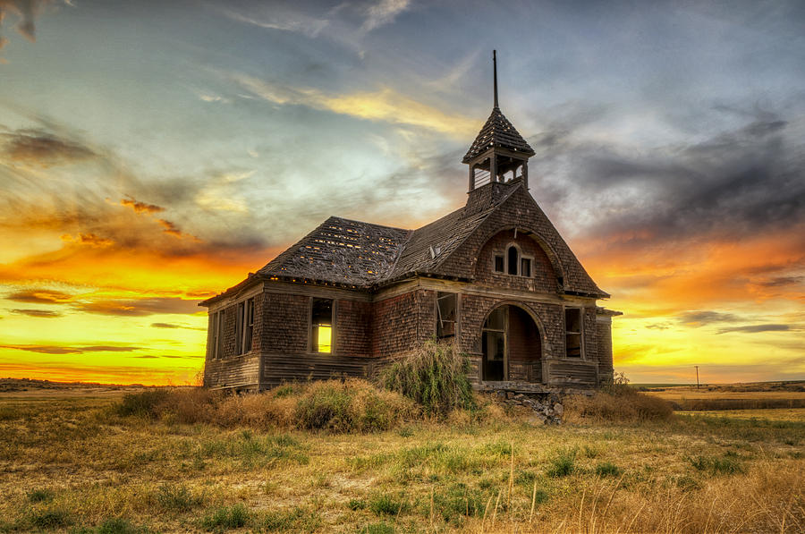 Hdr Photograph - Govan Schoolhouse by Michael Gass
