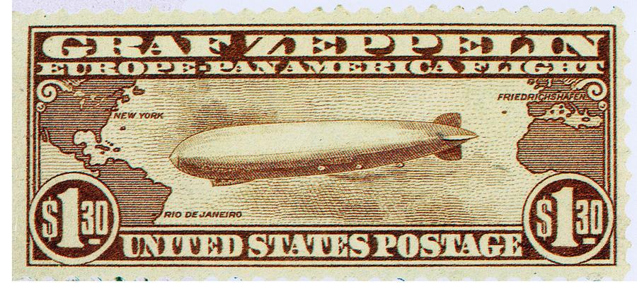 Graf Zeppelin, U s  Postage Stamp, 1930