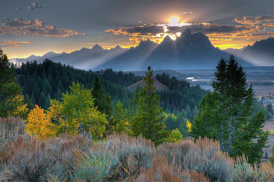 Grand Teton Mountains Photograph by Donald A Higgs